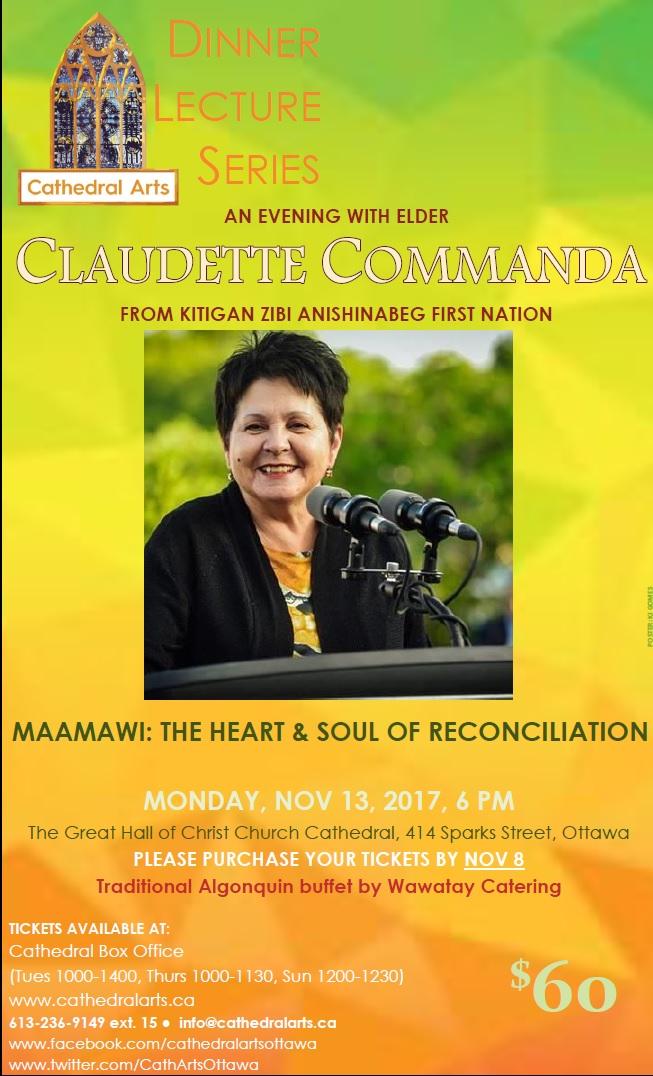 Claudette Commanda Dinner Lecture poster