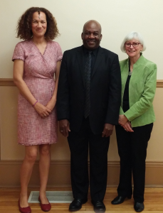 Photo of Julia Thompson, Dr. Anthony Leach, Holly Shipton-Savage